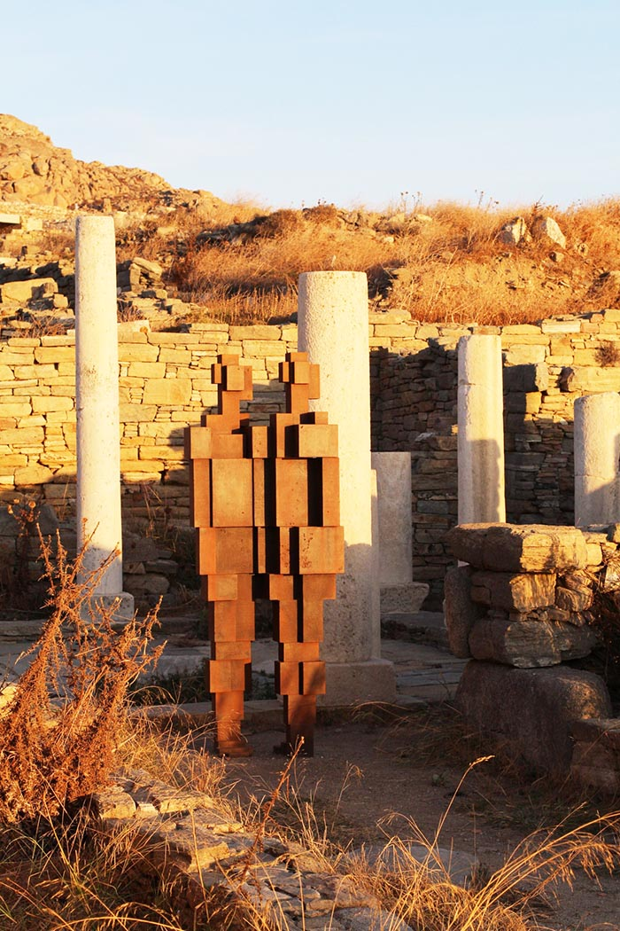 Delos gormley sculpture temple ruins photo artist Mike Petty