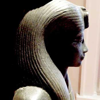 Egyptian statue portrait head