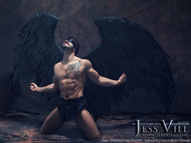 large black wings man fallen angel