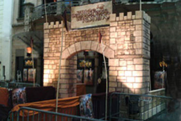 Castle film fake wall prop and decorations