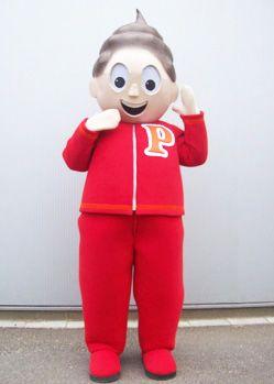 Kewpie doll mascot costume head