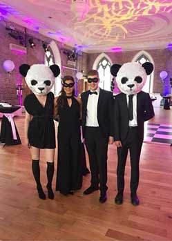 panda masquerade mask heads animal party theme