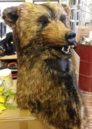 adult realistic brown bear head mask costume buy Tentacle Studio