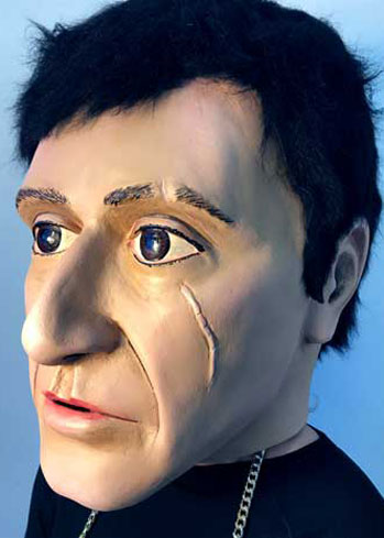 carnival paper mache big head ganster scarface