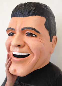 Simon Cowell big heads portrait head