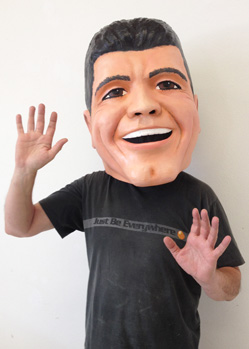 Simon Cowell costume mask big heads portrait head