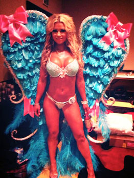 Victorias secret feather fitness glitter wings