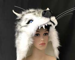 white wolf mask headdress Tentacle studio