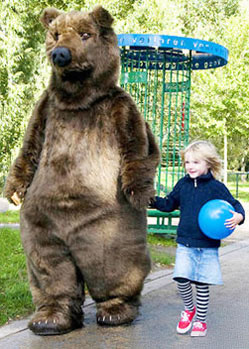 bear costume realistic grizzly mask animal mascot costume