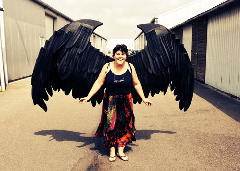big black evil wings gothic