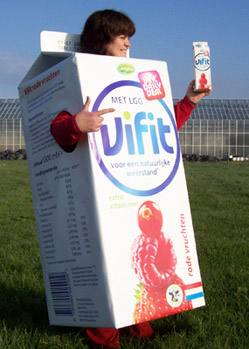 drinks carton mascot costume makers
