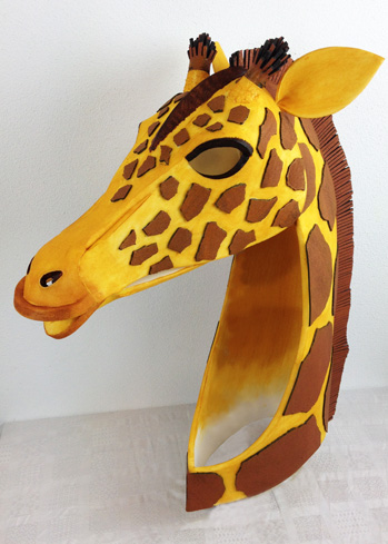 giraffe mask animal masks head theatre