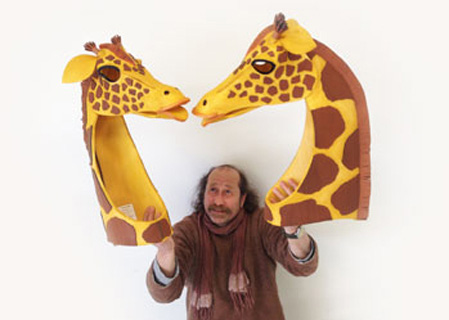 giraffe safari animal carnival mask lion king