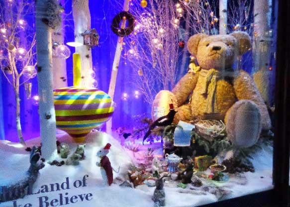 Harrods christmas window maker