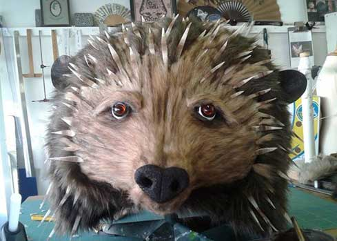 hedgehog costume head animal mask mrs tiggywinkle