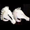 white horse mask headdresses cinderella