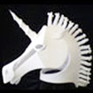 white unicorn headdress mask