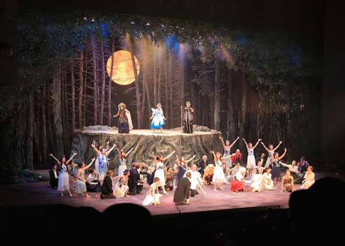 midsummer night dream theatre set nagoya japan