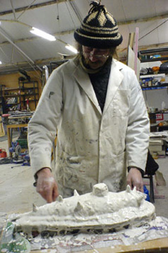 mike petty, sculptor, prop maker,