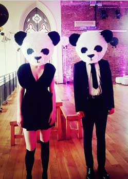 panda heads animal mask maker