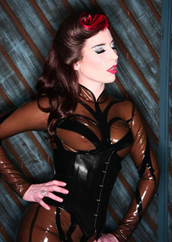 rubber latex custom-made corset