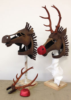 rudolph reindeer deer headdress mask