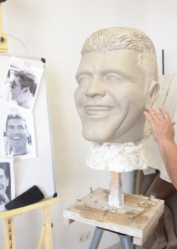 Simon Cowell portrait big heads made by Tentacle Studio