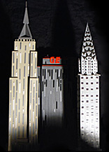 metropolis hats  Beaux-Arts Ball new york skyscrapers model