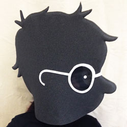 silhouette style mask heads