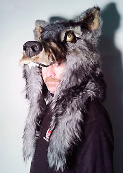 wolf mask hat headdress head fur akela jungle book
