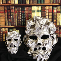 writer paper hand made custom mask mache