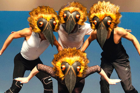 bird headdress mask jungle book Tentacle Studio