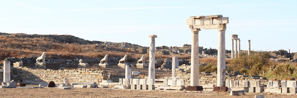 Delos lions temple ruins photo by Mike Petty