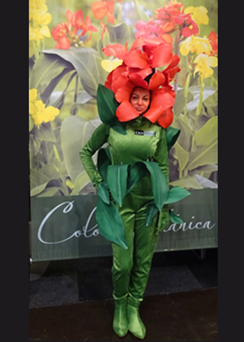 exotic flower headdress hat custom made mask maker