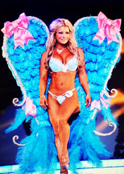 Victorias secret custom made feather fitness glitter wings