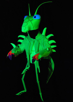 praying mantis insect costume blacklight