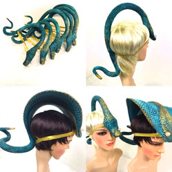snake headdress headpiece Jungle Book made by Tentacle Studio