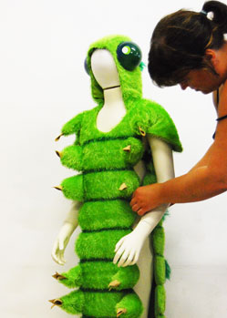 caterpillar grub insect costume bugs Tentacle Studio