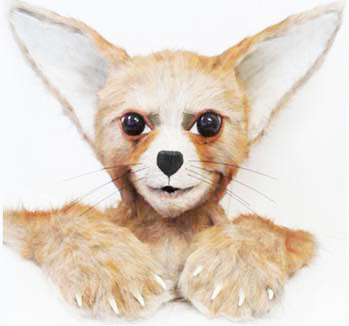 fennec fox animal mask head costume maker Tentacle Studio