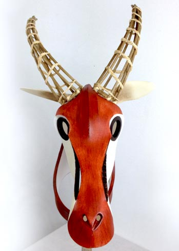 gazelle antelope mask headdress head