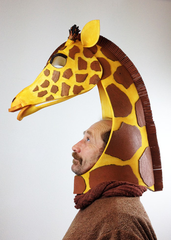 giraffe mask headdres african theatre production
