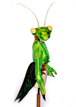 praying mantis insect costume prop makers London Zoo