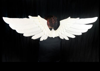 white wings cherub pegasus adult hand made by Tentacle Studio