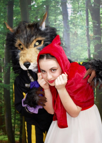 wolf head mask red riding hood